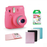 Kit Cámara Instax Mini 9 Flamingo Con Papel Y Album
