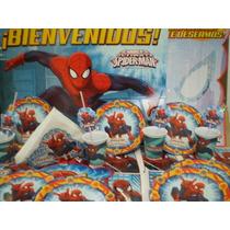 Hombre Araña/spiderman 40 Chicos Combo Tematico