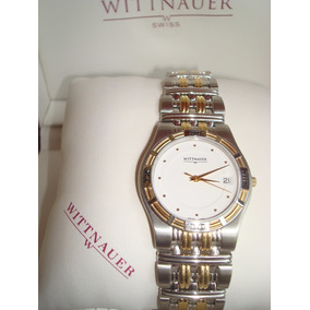 Reloj Hombre Wittnauer 12b02 Dos Tonos Swiss Made + Envío