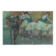 Postal Rompecabezas Arlequín De Edgar Degas