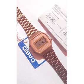 Reloj Rosa Mate Casio A168 Rose Gold Cobre Funda Manual Grat