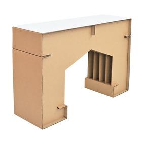 Mesa Consola De Carton Con Cubierta M2 Dglaf Repisa