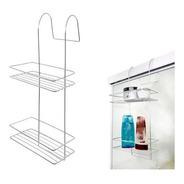 Suporte Porta Shampoo Cromado De Encaixar No Box Do Banheiro