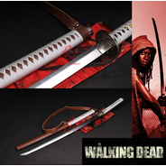 Katana The Walking Dead Michonne Twd Aço Aisi 9260 Afiado