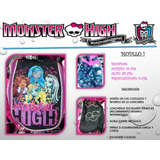 Lonchera Escolar Termica Monster High, Para Niña Sandwichera