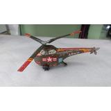 Helicóptero Militar De Lata A Fricção Década 60.