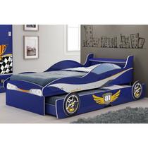 Cama Infantil Gelius Bibox Carro Enzo Azul