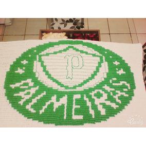 Tapete De Crochê Time De Futebol Palmeiras Medindo 1,20x80
