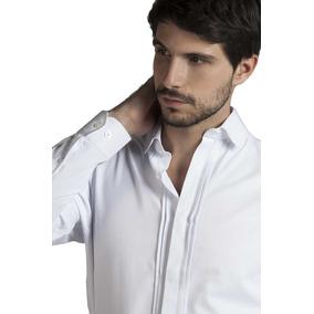 Camisa De Vestir Lisa Cuello Noche Manga Larga Devré