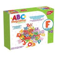 Bu-7113 Abc Magnetico 60 Letras Coloridas De Madera Alfabeto