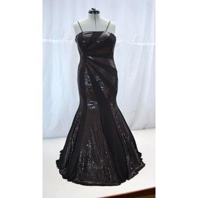 Vestido Dama Sirena Elegante Negro 13 Fiesta Noche Crinolina