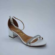 Sandalia Vizzano Pelica Glitter Branco Prata Ref. 6291.993