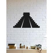 Quadro Decorativo Parede Monumentos Piramide Maia 90cm