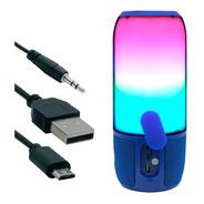 Parlante Bluetooth Waterproof Multicolor 8w Azul