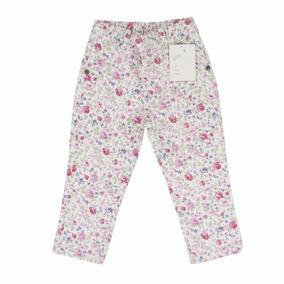 Pantalon Nena Gabardina Flores H/ T. 6 Regalosdemama