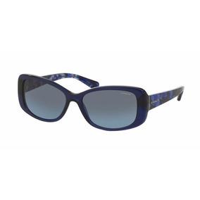 Lentes Gafas Coach Hc8168 534917 Blue Black Mosaic Original