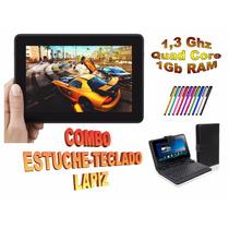 Tableta Fire 7 Qcore 1,3 2cam Combo Forro Teclado Lápiz 2017