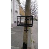 Cesto,canasto, De Basura Para Poste De Madera 60x40