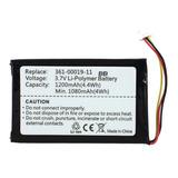 1, 2ah Batería Nueva De Gps Para Garmin Nuiv 205t Nuvi 200