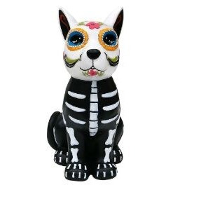 Perro Decorativo Ceramica Halloween Dia De Muertos Catrina