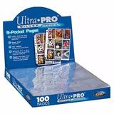 50 Hojas Ultra Pro Coleccionadoras 9 Espacios Envio Gratis !