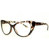 Óculos Feminino Cat Eyes Oncinha Promoção