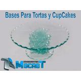 Bases Decorativas Para Tortas Y Cupcakes En Vidrio