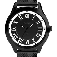 Relógio Euro Ouse Ser Você Mesma Feminino Preto Aço Leve Eu2039ji/4p Original