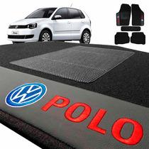 Jogo De Tapete Carpete Automotivo Bordado Vw Polo 2002/...