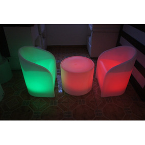 Sala Lounge Iluminada Led Rgb Periqueras Bar Antro Sillon