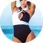 Body Feminino 3d Decote Trancado Frente Preto E Branco Lindo