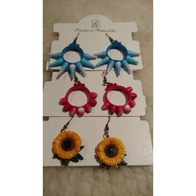 Aretes De Filigrana,flor, Piñata, Cempasúchil.