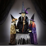 Brujas Ojos Led Y Sonido Decoracion Halloween Adorno Grande