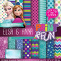 Kit Imprimible Pack Fondos Frozen 12 Clipart