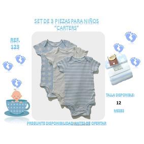 Bodys Set De 3 Piezas Carters Para Niños Bebés