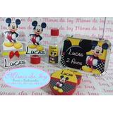 Kit Mickey 100un.tubete Latinha Marmita Convite