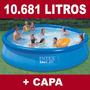 Piscina Inflável Easy Set 10681 Litros Intex+ Capa Cobertura