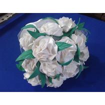 Bouquet Rosas Brancas Eva Noivas Daminhas