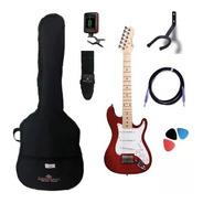 Kit Guitarra Michael Infantil Junior Gm219 Metallic Red