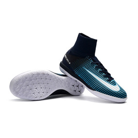 Chuteira De Futsal Nike Botinha Mercúrio Neymar Azul Verde ... e482d21b07a6e