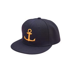 Gorra John Leopard Logo Ancla Anchor Snap Snapback Dorado