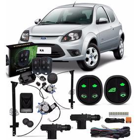Kit Vidro Eletrico Ford Ka 2008 A 2014 + Trava + Alarme