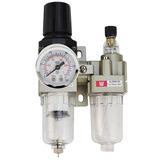 Filtro De Ar Regulador Lubrificador Manômetro 1/4 Compressor