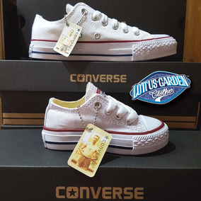 Converse All Star Zapatos Tenis Blancos Niño
