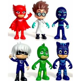 Heroes En Pijamas Pjmasks Set 6 Figuras Catboy Owlette Gekko