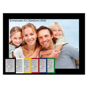 Impresión 6 Fotos A3 (30x42cm) Enmarcado Estampado En Chapa