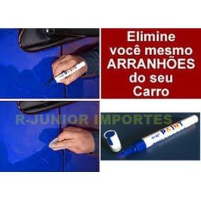 Caneta Retoque Risco Veículo Tinta Automotiva Prata Metálico