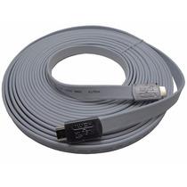 Cable Hdmi 10 Mts Nisuta Ns-cahdmi10mc V1.4 Plano 2160p 4k