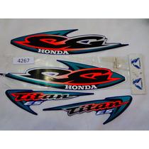 Moto 4267 Jogo Adesivo Titan 2000 Es Azul