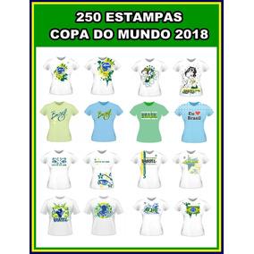 Estampas Camisa Copa 2018 - 250 Vetores Corel Estampas
